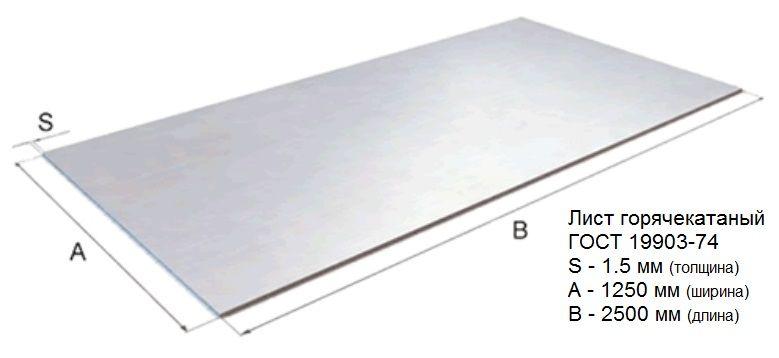 Лист стальной ГОСТ19903-74