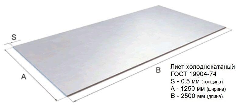 Лист стальной ГОСТ19904-90