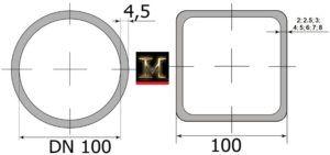 труба 100 мм