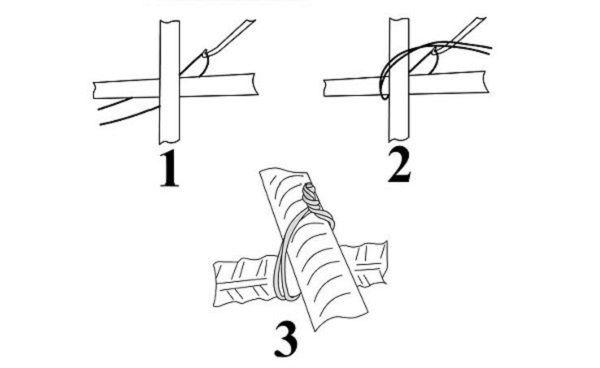 Способы вязки арматуры для ростверка